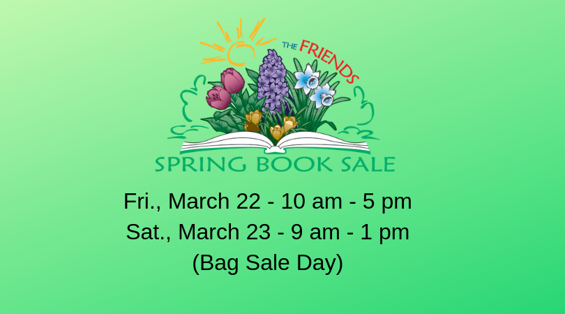 Friends Spring Book Sale is coming!