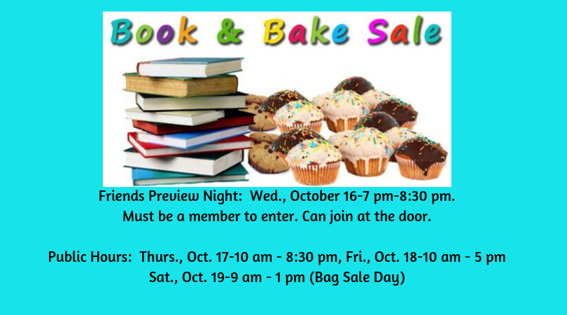 Friends of the Library Book and Bake Sale